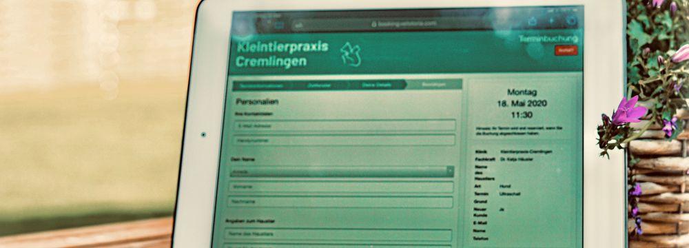 Onlineterminbuchung 24/7 Digitalisierung Terminbuchung Online Tierarzt Braunschweig Wolfenbüttel Königslutter